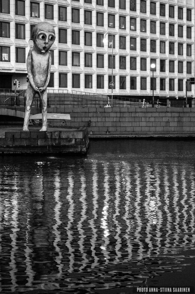 """""""Bad Boy"""" statue in the Helsinki market square, 2014, photo Anna-Stiina Saarinen"""