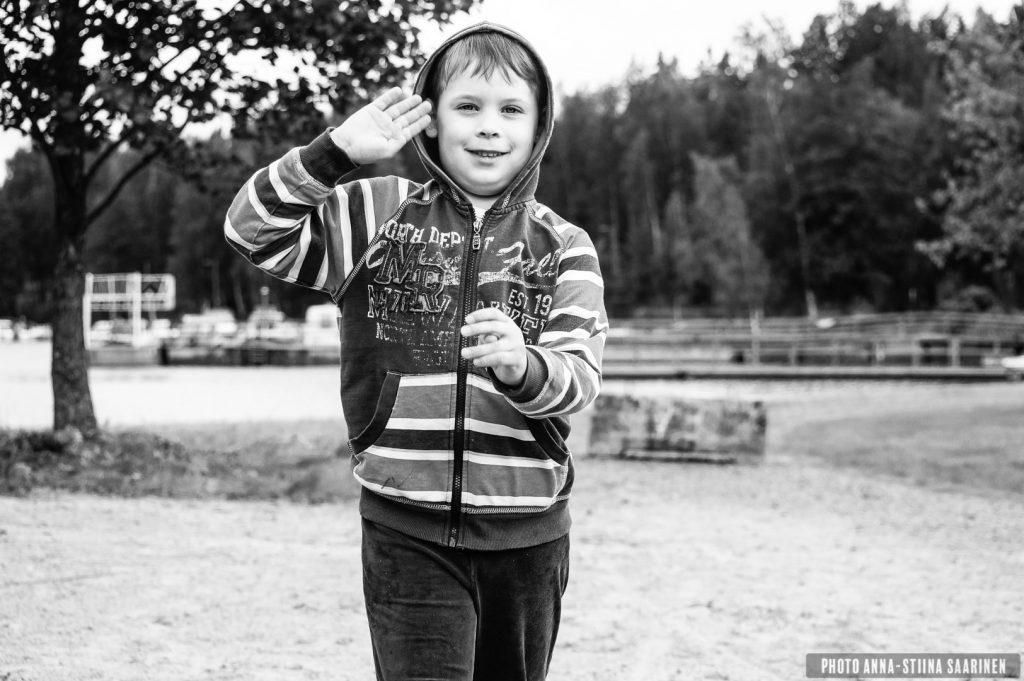 A boy on the shore of Lake Pikku-Ulvaja, Valkeakoski, Finland. Summer 2014, photo Anna-Stiina Saarinen