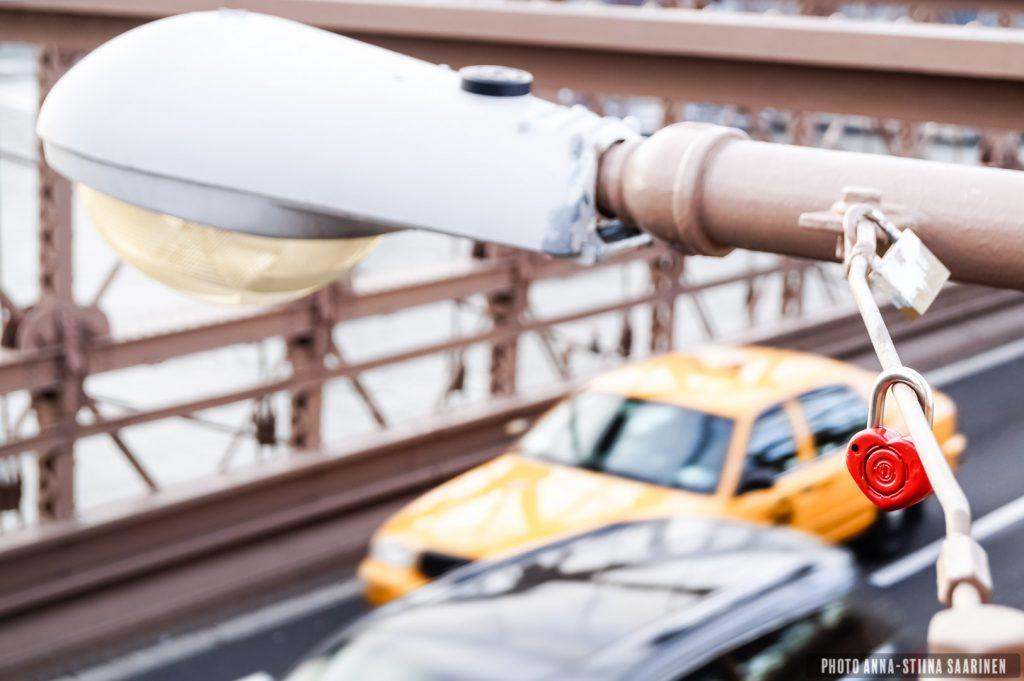 Love Lock on Brooklyn Bridge, NYC, photo Anna-Stiina Saarinen