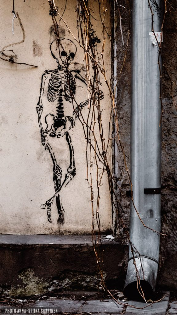 Graffiti. Old Town Vilnius, 2017,photo Anna-Stiina Saarinen