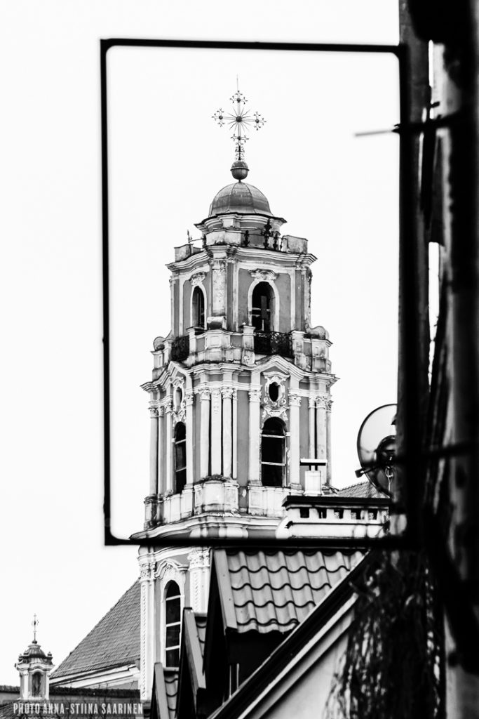 A frame. Old Town Vilnius, 2017, photo Anna-Stiina Saarinen