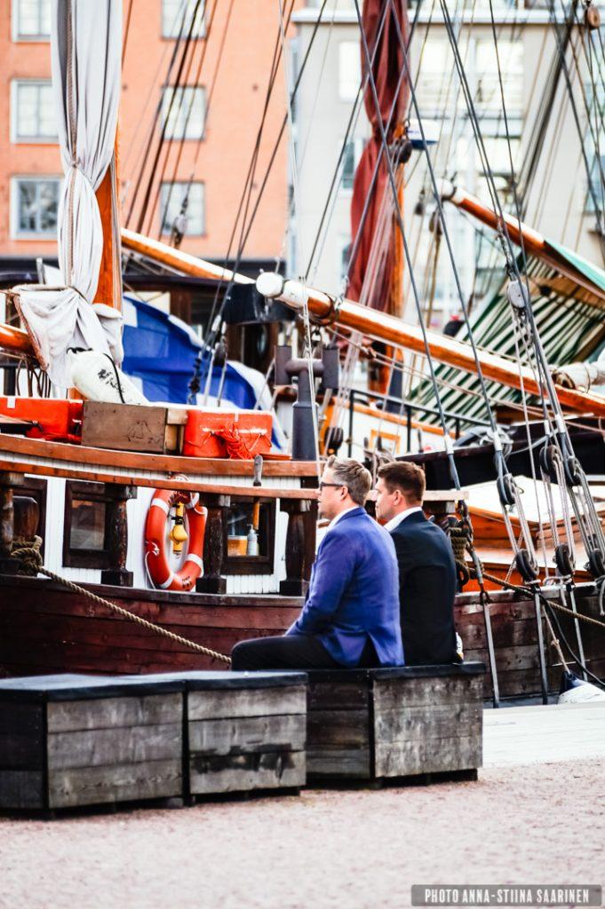 A lunch break, Helsinki harbour, 2014, photo Anna-Stiina Saarinen