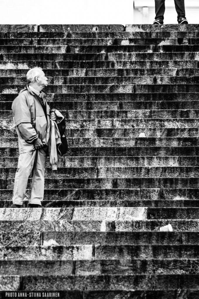 On the stairs, Helsinki 2015, photo Anna-Stiina Saarinen