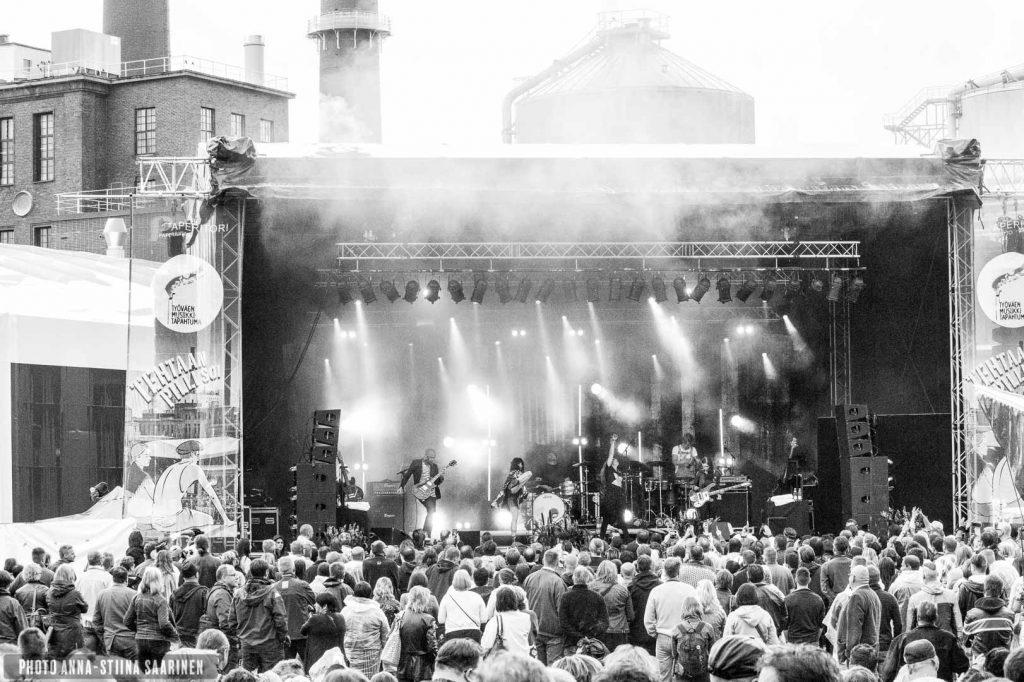 """TMT """"Labour's Music Festival"""" in the factory area in Valkeakoski. Artist Maija Vilkkumaa. 2015, photo Anna-Stiina Saarinen"""