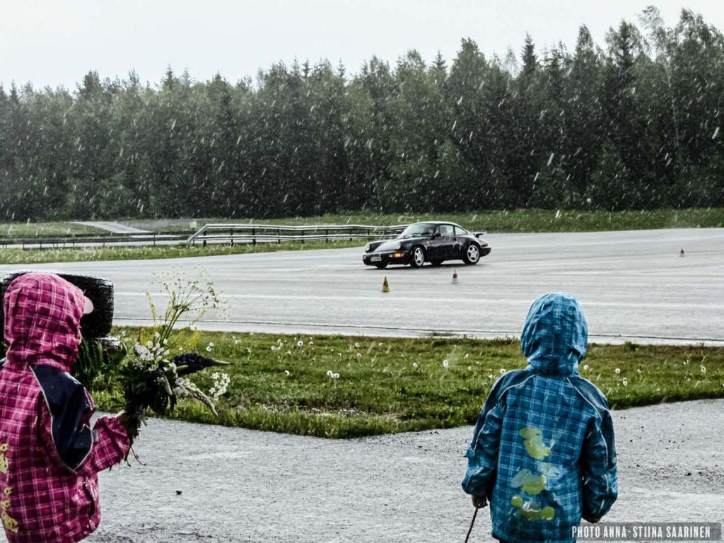 Slalom driving, a hobby of the whole family. Nokia 2012, photo Anna-Stiina Saarinen