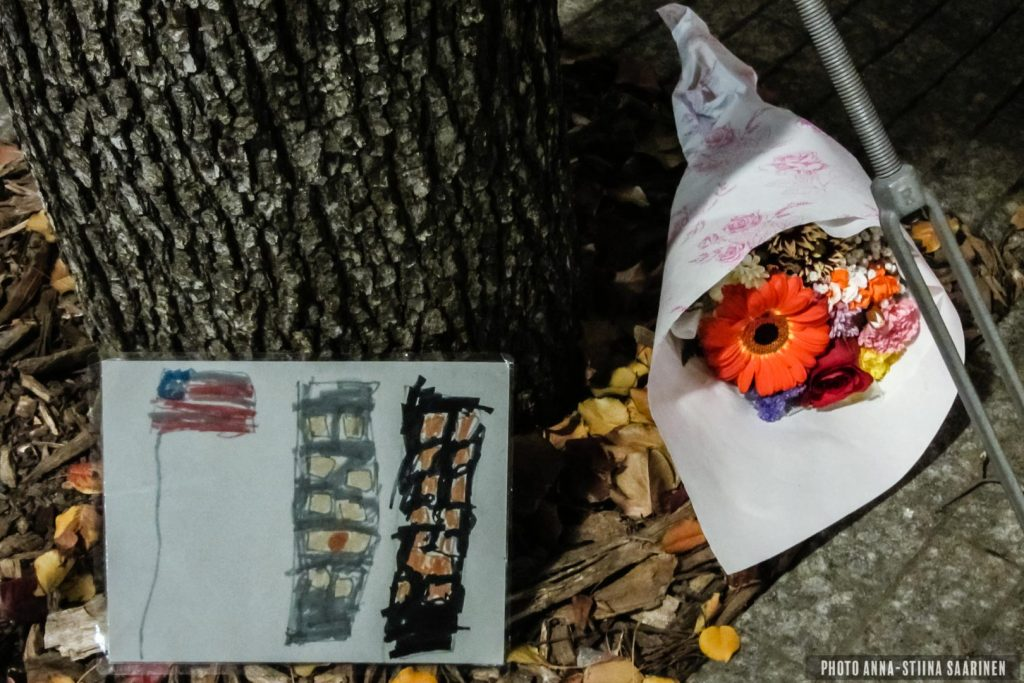 The survivor tree in Ground Zero, New York. Thanksgiving Day 2012, photo Anna-Stiina Saarinen