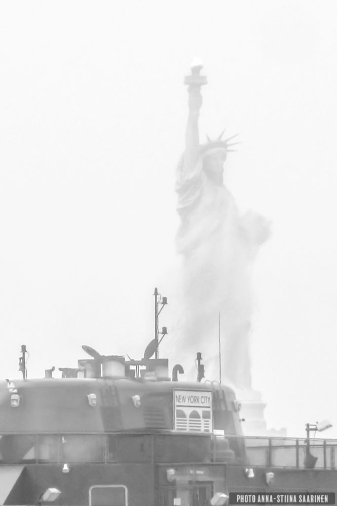 """"""" She comes out"""" Statue of Liberty, New York 2012, photo Anna-Stiina Saarinen"""