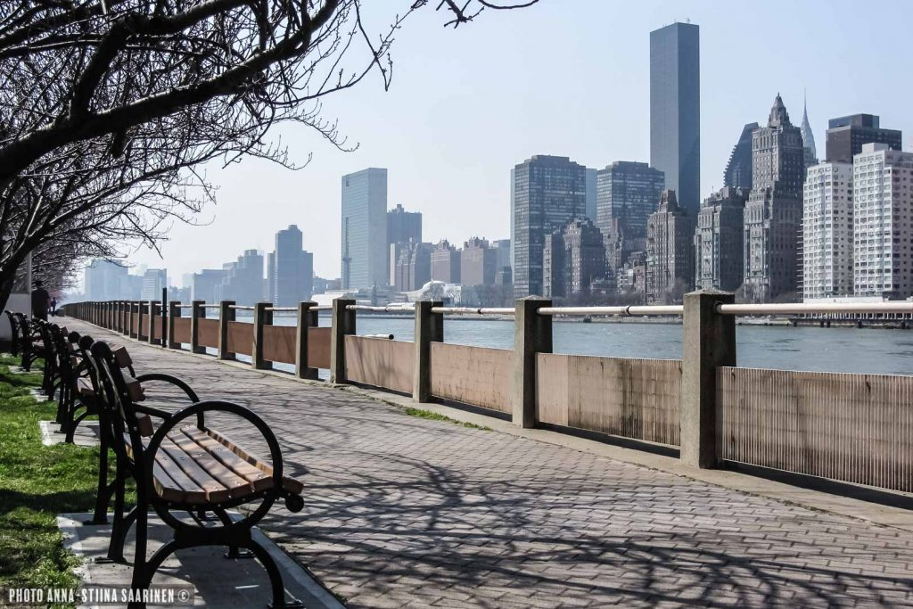 A promenade on the Roosevelt Island, New York, March 2012, photo Anna-Stiina Saarinen.