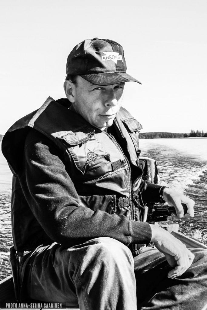 Fisherman in at river Kymijoki, photo Anna-Stiina Saarinen
