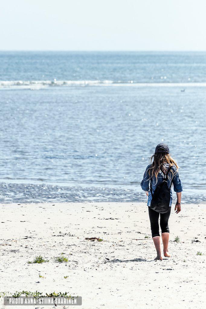 11th summer, a girl in the beach of Fredrikshavn, Denmark photo Anna-Stiina Saarinen