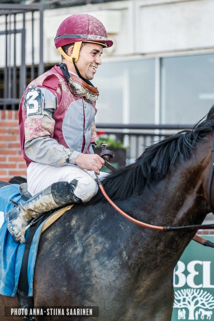 A jockey in Belmont Park NYC 2018, photo Anna-Stiina Saarinen