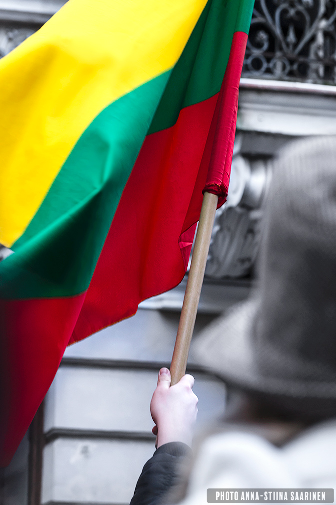 Flag and hat, Vilnius Lithuania, 99th Independence Day, photo Anna-Stiina Saarinen