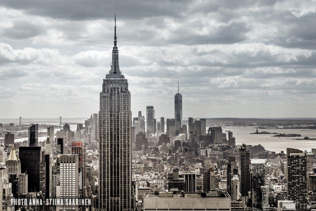 ESB Empire State Building, views over Manhattan, Top of the Rock, Manhattan NYC, photo Anna-Stiina Saarinen