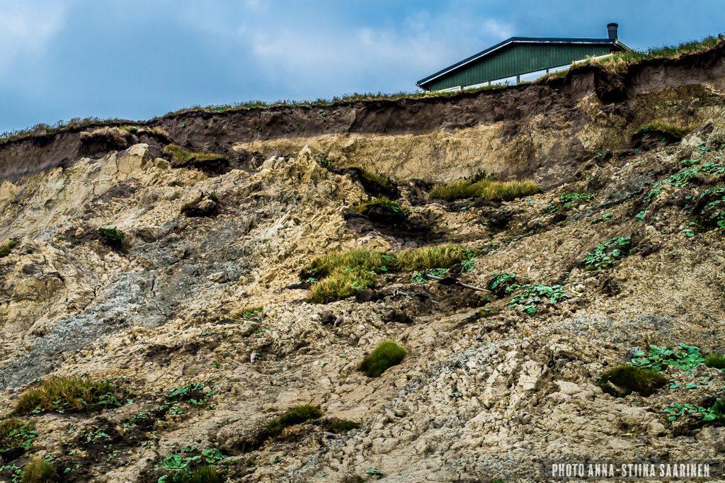 Coastal erosion in Jylland beside North Sea photo Anna-Stiina Saarinen