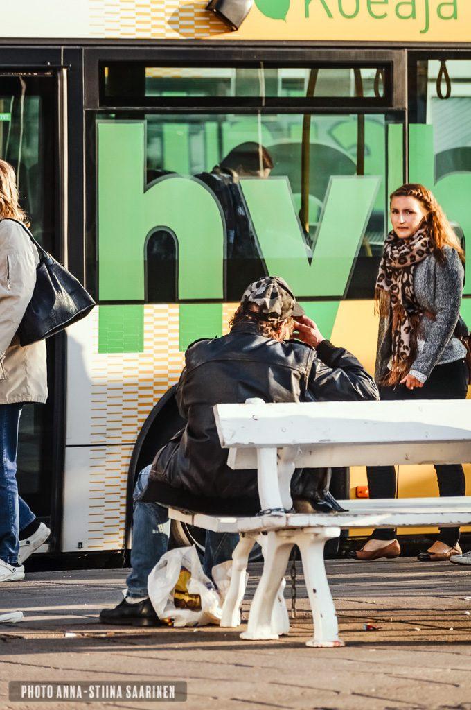 A glance at the bus stop, Turku Finland, photo Anna-Stiina Saarinen