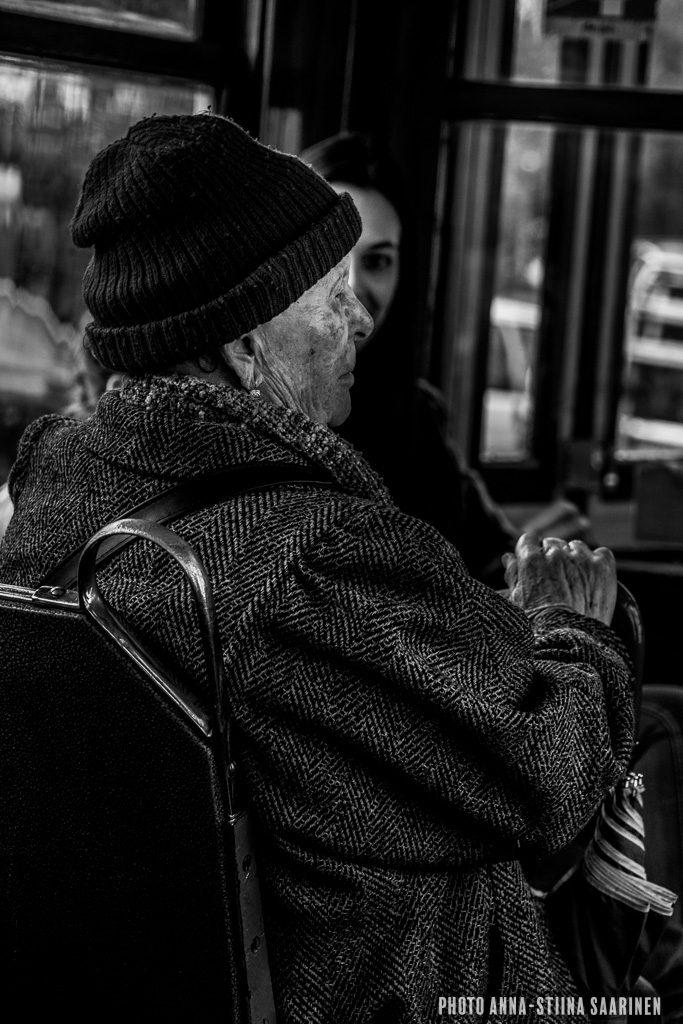 In the tram, Lisboa, photo Anna-Stiina Saarinen