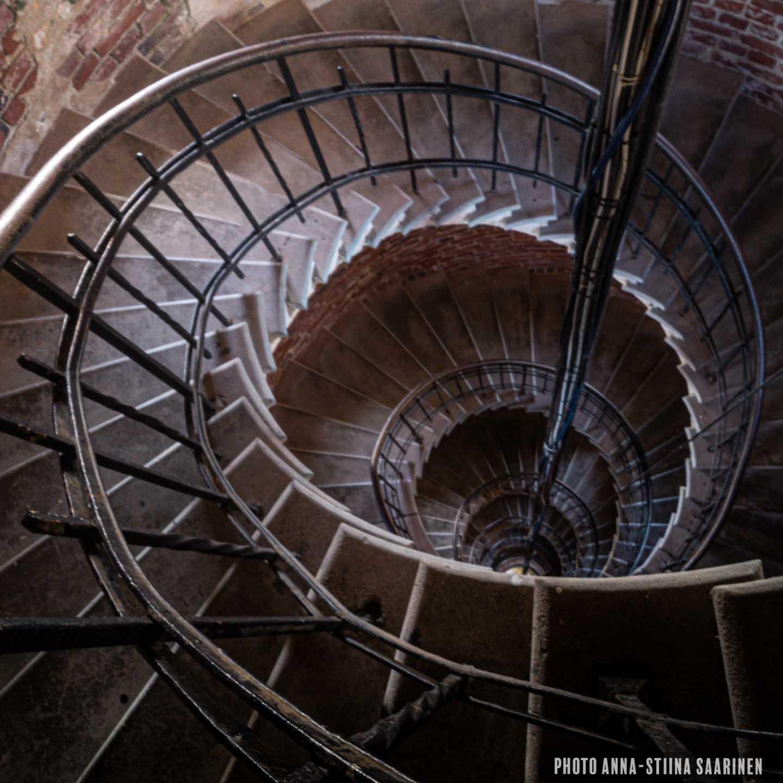Spiral stairs of lighthouse Bengtskär photo Anna-Stiina Saarinen annastiinasphotos.com
