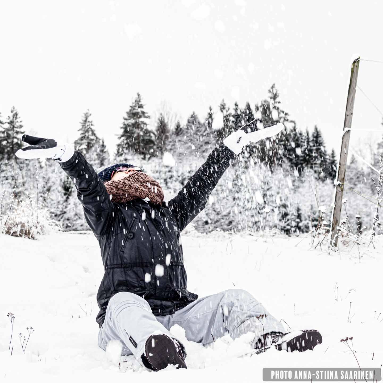 Joy of the snow photo Anna-Stiina Saarinen annastiinasphotos.com